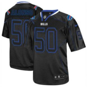 Nike Bills #50 Kiko Alonso Lights Out Black Men's Stitched NFL Elite Jersey