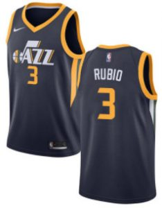 Nike Jazz #3 Ricky Rubio Navy NBA Swingman Icon Edition Jersey